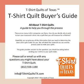 Free Tshirt quilt buyers guide