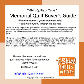 Free Memory Quilt Buyers Guide