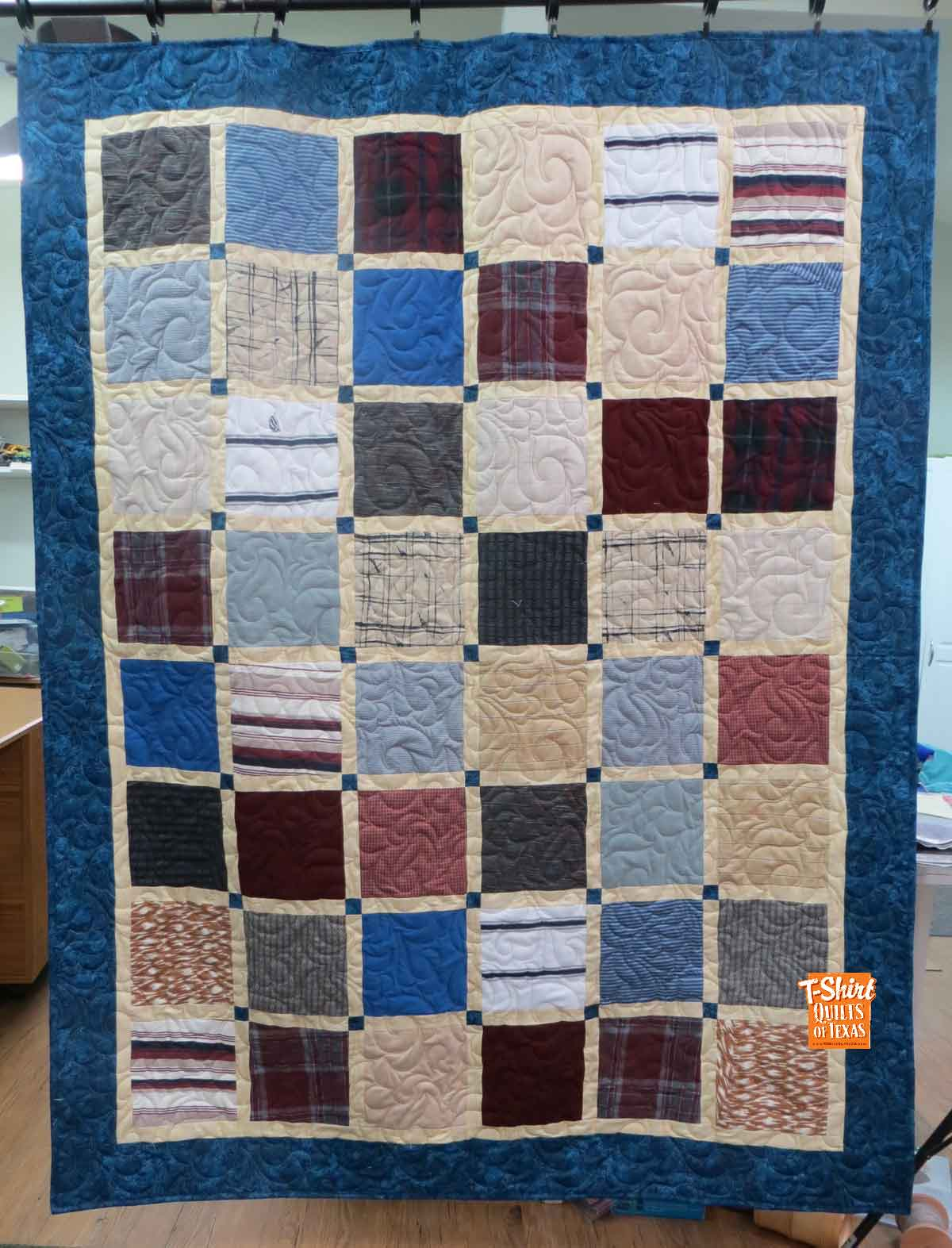 Traditional Memory Quilts made from Clothing in Texas